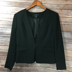 NWOT H&M black blazer jacket, size 12